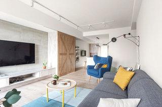 北欧风格公寓装修布艺沙发图片
