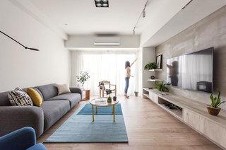 北欧风格公寓装修茶几地毯效果图