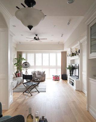 100平米美式两居室整体平面图