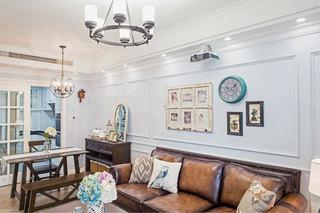 150㎡美式三居室客厅图片