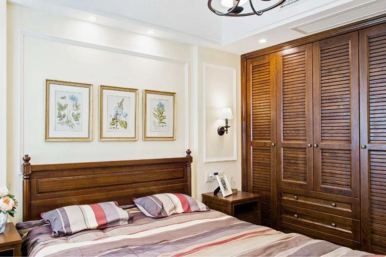美式三居室卧室实景图
