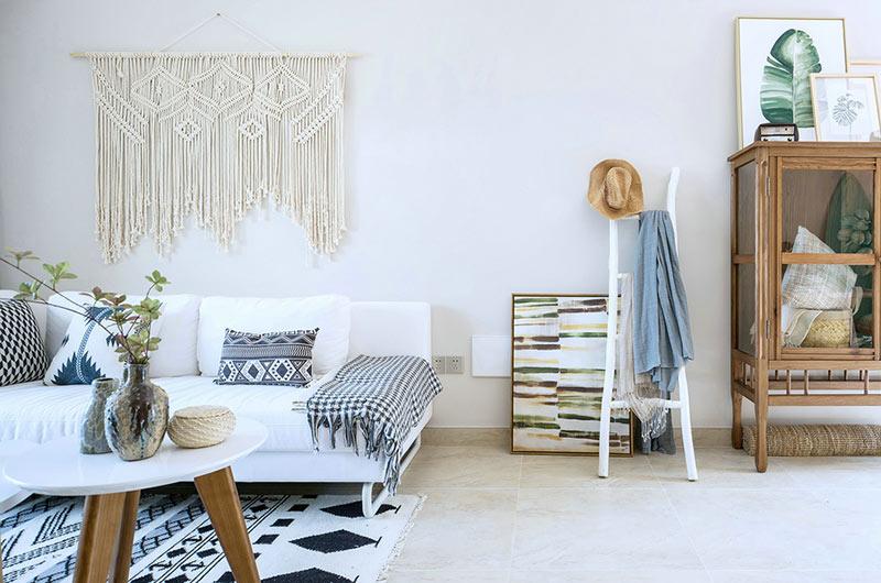 北欧风格样板房装修布艺沙发图片