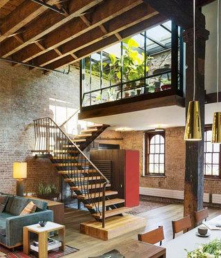 现代风loft公寓装修平面图