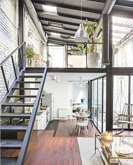 现代风loft公寓设计构造图