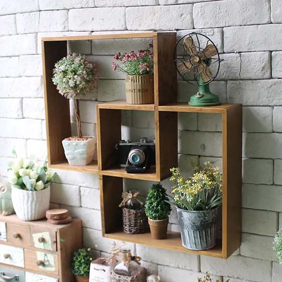 木质装饰品设计实景图