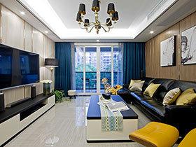 120平现代前卫风格三居室装修 诗意般的栖居