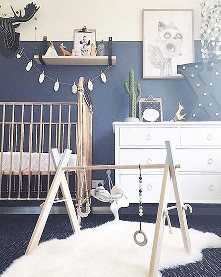 蓝色儿童房装修平面图