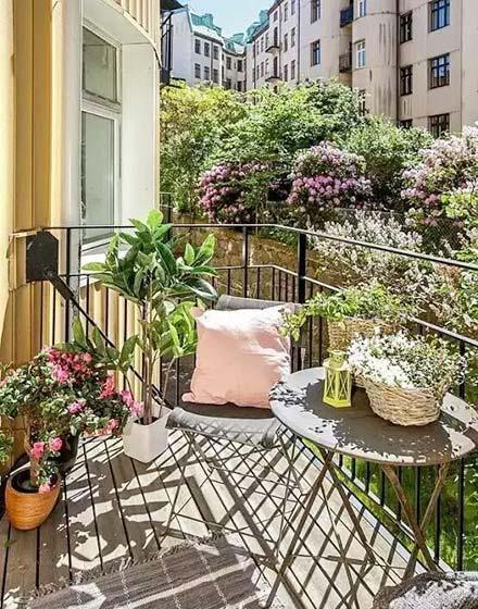 阳台花园装修平面图