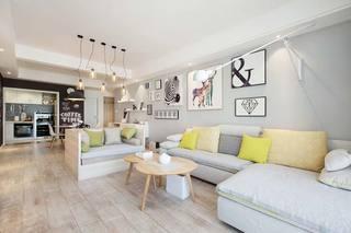北欧风单身公寓客厅图片