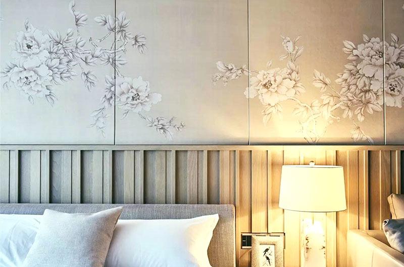 简约风格复式楼卧室壁纸图片