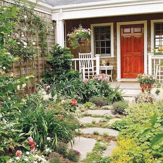 别墅花园装修摆放图