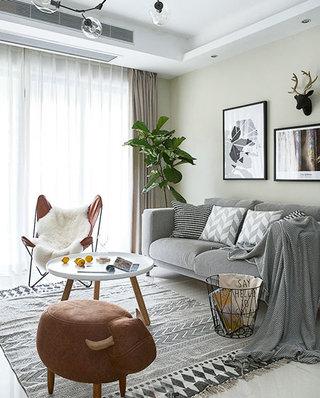 90平简约风格公寓布艺沙发图片