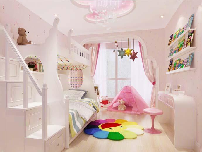 儿童房背景墙装饰图
