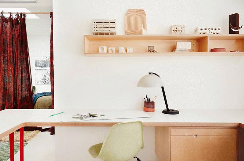 现代简约风格公寓卧室书房图片