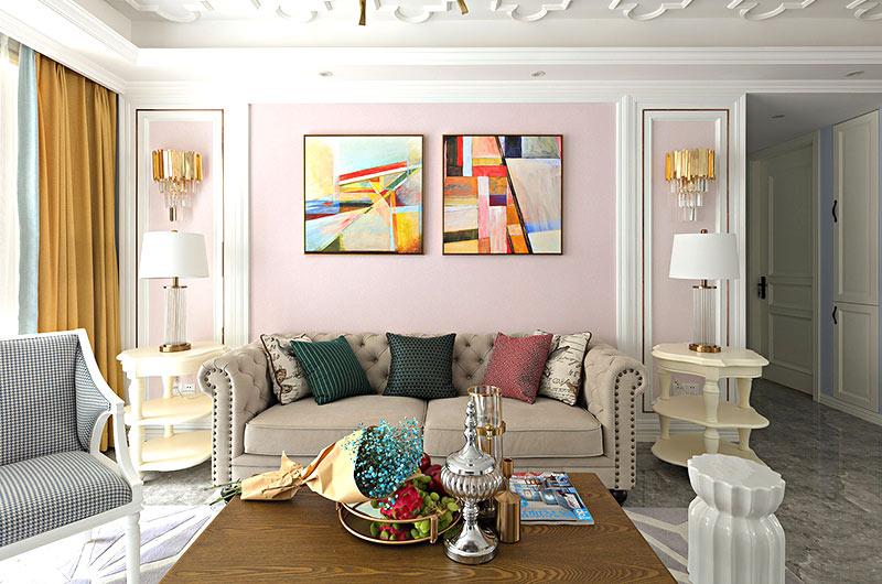145平法式风格三居双人沙发图片
