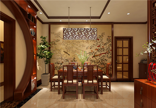 中式风格室内装修效果图三