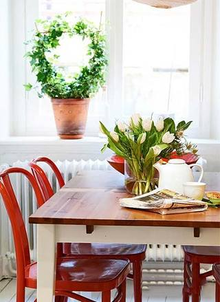 85㎡北欧风格餐厅图片