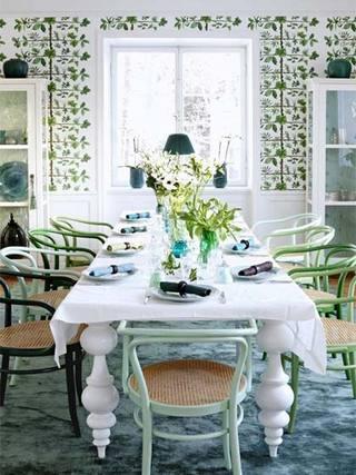 小清新北欧风格餐厅图片