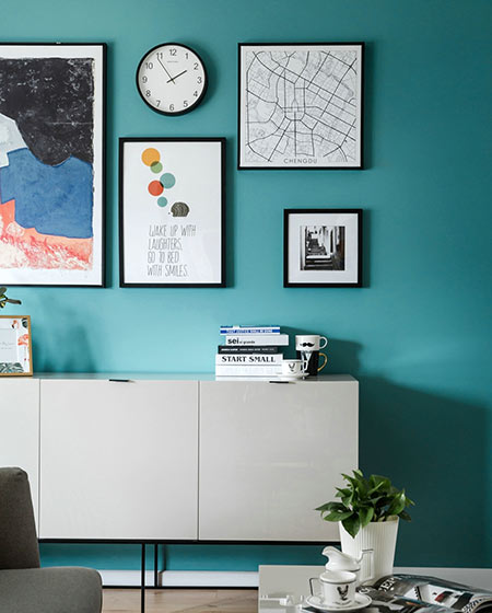 95平北欧风格二居收纳柜设计