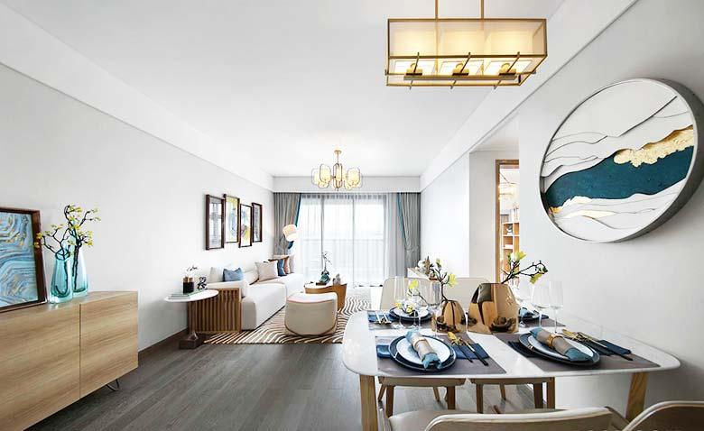 新中式两居室整体效果图