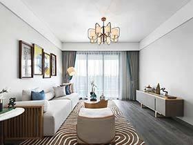 90㎡新中式两居室实景图  简洁的生活