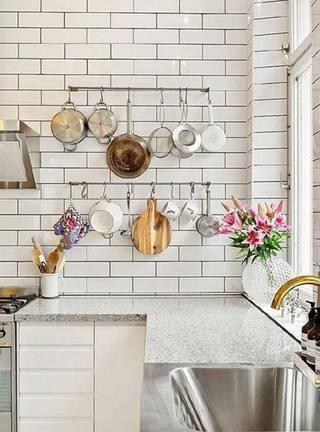 厨房搭配背景墙收纳图