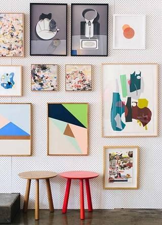照片墙搭配设计平面图