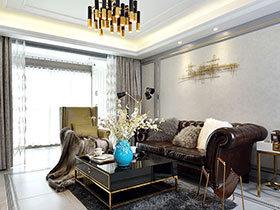 130平欧式风格公寓效果图 黑白相搭更小资