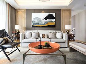 125平新中式风格四房装修效果图 驻守恬静
