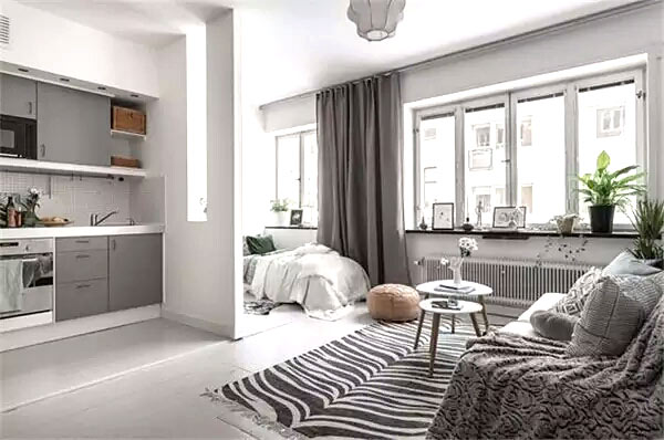 单身公寓装修客厅设计效果