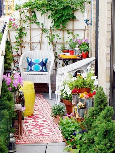阳台花园设计构造图片