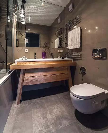 复古风卫生间洗手台图片