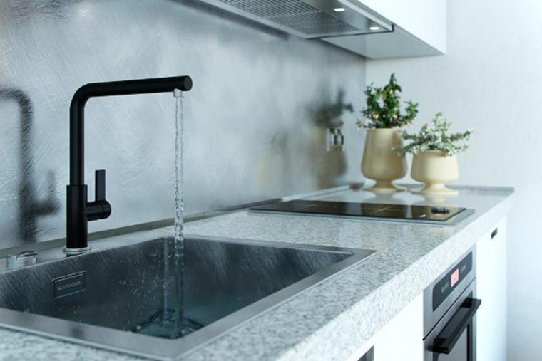 40平时尚loft风格装修开放式厨房