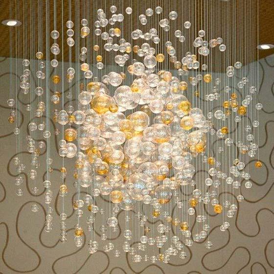 气泡吊灯装修装饰效果图