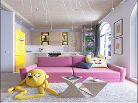 80平时尚个性两居室装修图 大人也可以玩童真