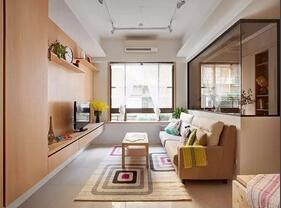 110平清新工业风格装修 清新亮丽的空间感
