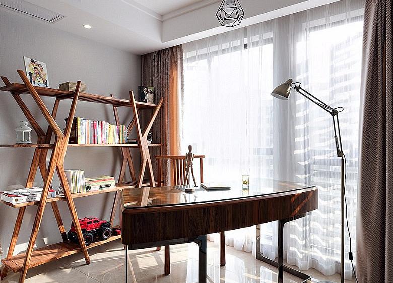 120平北欧风格装修复式美家书房设计