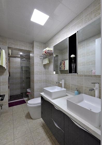 120平北欧风格装修复式美家浴室设计图