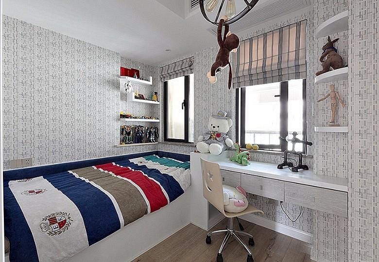 120平北欧风格装修复式美家儿童房装修图
