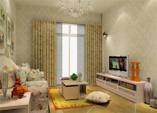 小客厅窗帘效果图 小客厅窗帘选购技巧