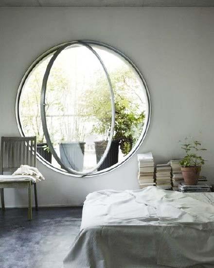 圆形创意窗设计构造图