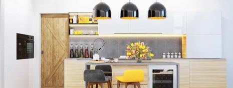 10款亮黄色现代风厨房