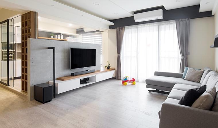 70平两居室北欧风格装修效果图客厅设计