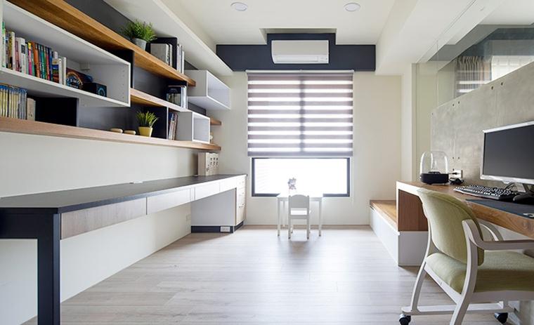 85㎡北欧风格两居室书房图片_齐家网装修效果图图片
