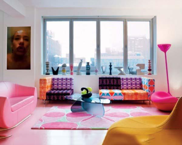 多彩客厅沙发布置图
