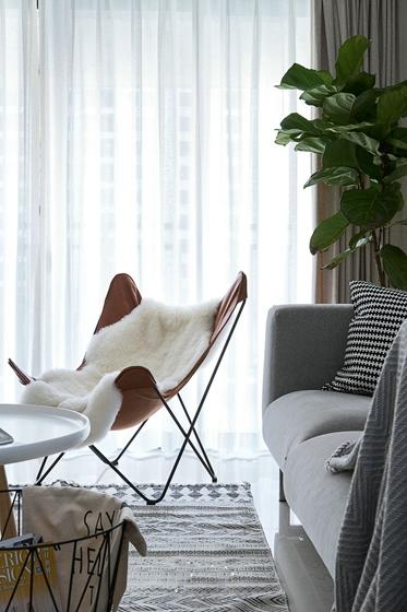 25万装90平简约风格美家客厅窗帘