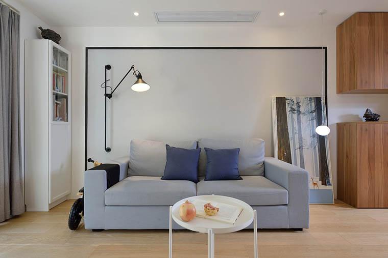 100平北欧风格两居室装修效果图客厅沙发图片