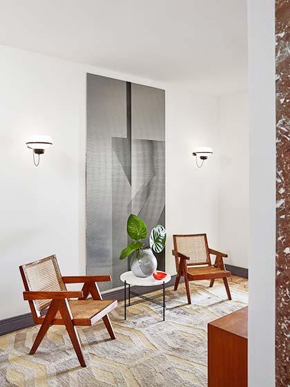 280㎡复古风格小客厅平面图