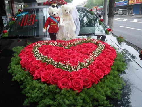 合肥婚车租赁-鲜花婚车的美好寓意 婚车用花有