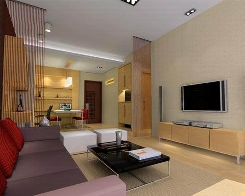 长方形客厅装修效果图 北京装修美宅客